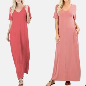 SCOTTIE Boho Maxi Dress - Ruby Red